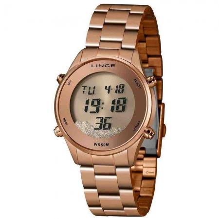 Relógio Lince Sdr4638L Rxrx Digital Feminino Rosé