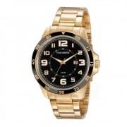 Relógio Masculino Mondaine 99501GPMVDA2 46mm Aço Dourado