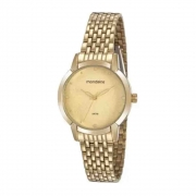 Relógio Mondaine Feminino Classic Dourado 32209LPMVDE1