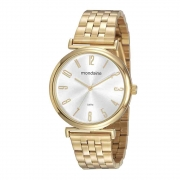 Relógio Mondaine Feminino Dourado 32156LPMVDE1
