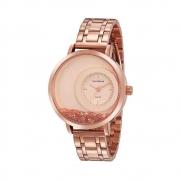 Relógio Mondaine Feminino Rosé Cristais Soltos 76781LPMVRE1
