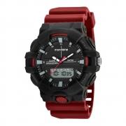 Relógio Mondaine Masculino 85009G0MVNP2 Preto e Vinho