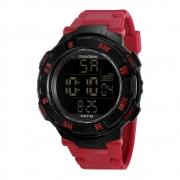 Relógio Mondaine Masculino Pulseira Vermelha 85008G0MVNP1