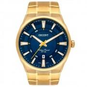Relógio ORIENT masculino dourado azul MGSS1191 D1KX