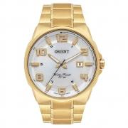 Relógio Orient Masculino Dourado Branco MGSS1186 S2KX