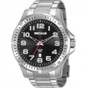 Relógio Seculus Masculino Analógico Prateado 20787G0SVNA2