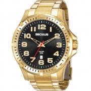 Relógio Seculus Masculino Dourado 20787GPSVDA3