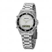 Relógio Seculus Masculino Prata 20914G0SVNA2