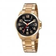 Relógio Seculus Masculino Ref: 20807gpsvda2 Casual Dourado