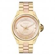 Relógio Technos Dourado e Rosé Feminino Elegance Crystal 2039BL/4T