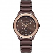 Relógio Technos Feminino Crystal Marrom 2036mkj/4m