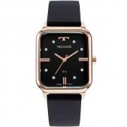 Relógio Technos Feminino Style Preto e Rosé 2039cs/2p