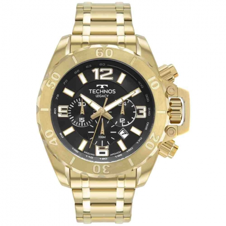 Relógio Technos Masculino Dourado JS25CQ/1P