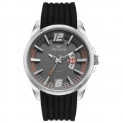 Relógio Technos masculino prata e preto com silicone - 2117LCTS/2C