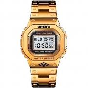 Relógio Umbro Retrô Masculino Dourado Umb-111-g
