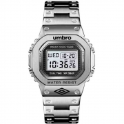Relógio Umbro Retrô Masculino Prata Umb-111-s