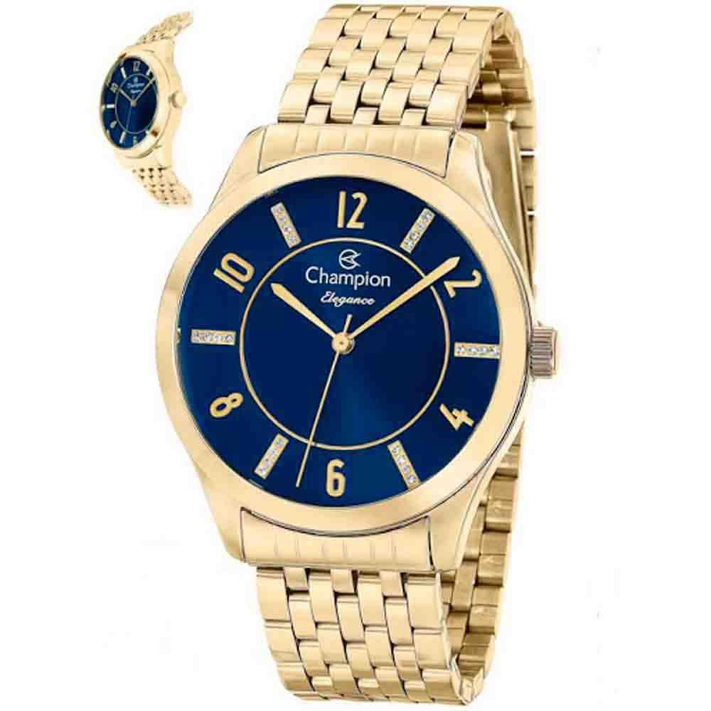 Kit Relógio Champion Elegance Feminino CN27698K