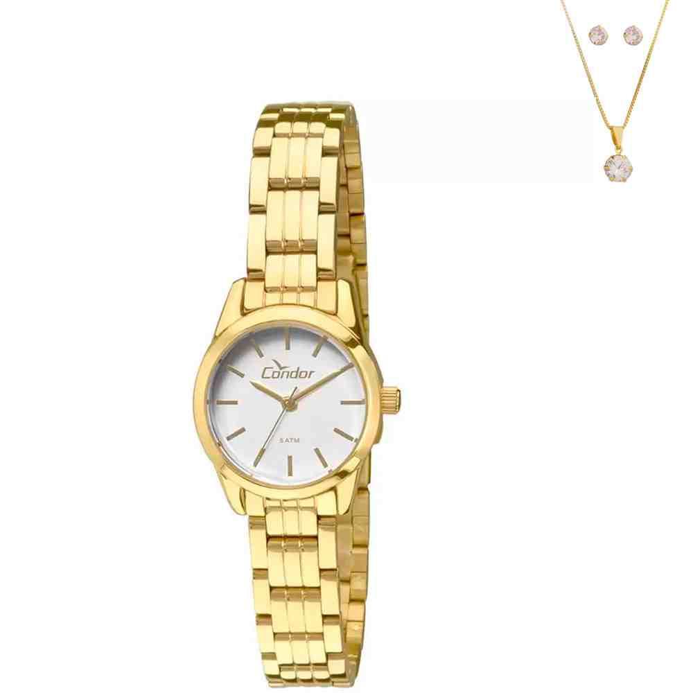 Kit Relógio Condor Feminino Co2035kno/k4c