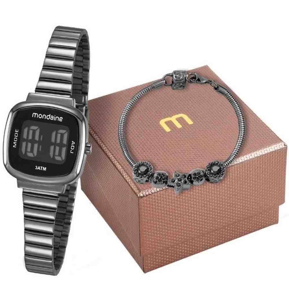 Kit Relógio Feminino Mondaine 53717LPMVPE3K1
