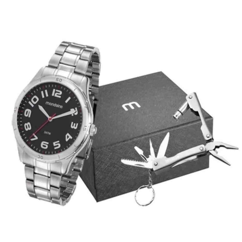 Kit Relógio Masculino Mondaine 99058G0MVNE1K1