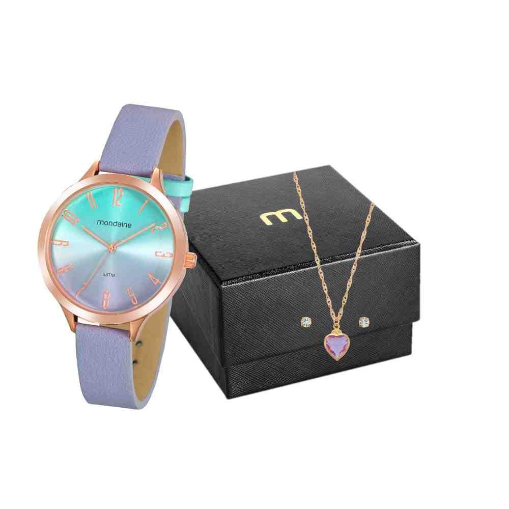 Kit Relógio Mondaine Feminino 32212LPMVRH2K1