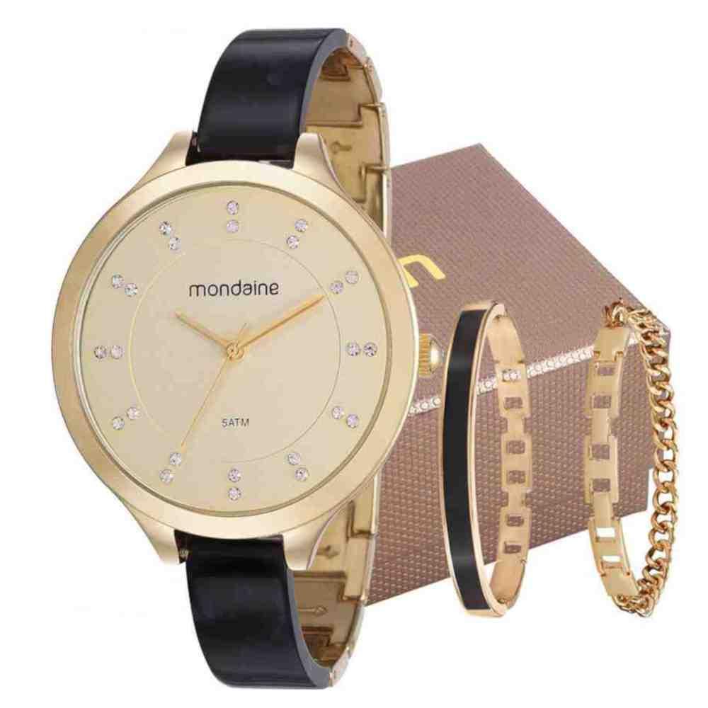 Kit Relógio Mondaine Feminino 53614LPMVDF2K1