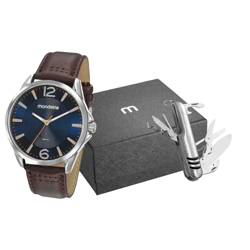 Kit Relógio Mondaine Masculino 53794G0MVNH2K1