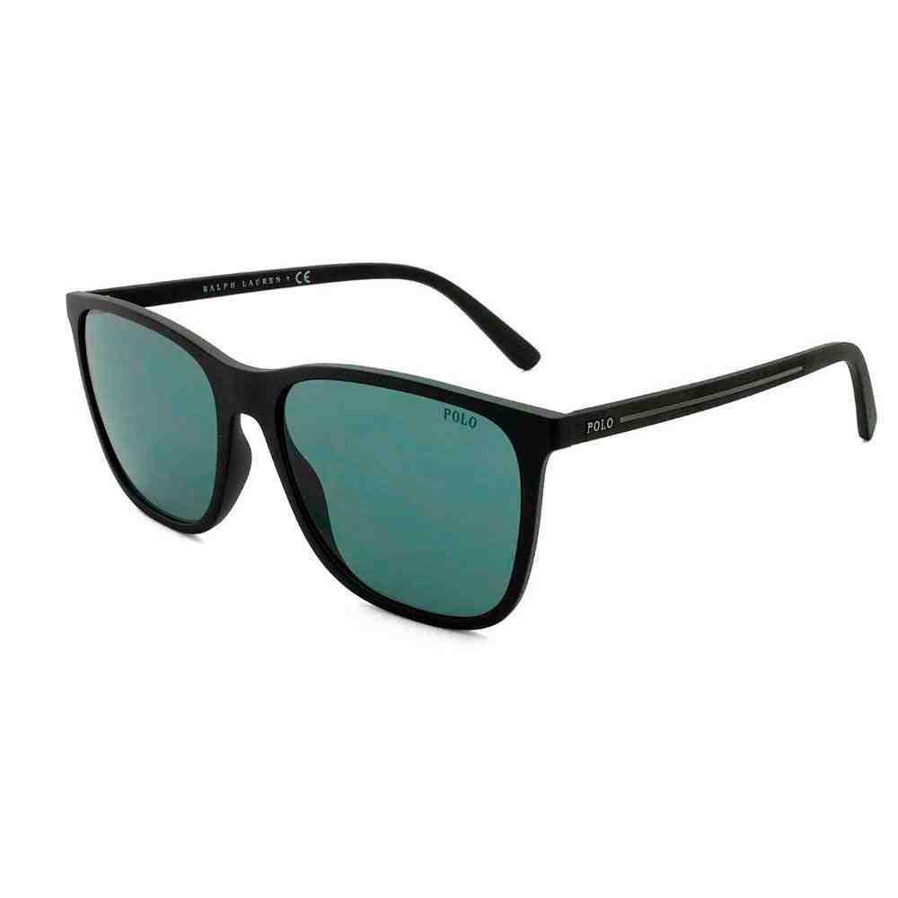 Oculos Sol Polo Ralph Lauren Ph4143 528487 57 Preto Fosco Lente Cinza