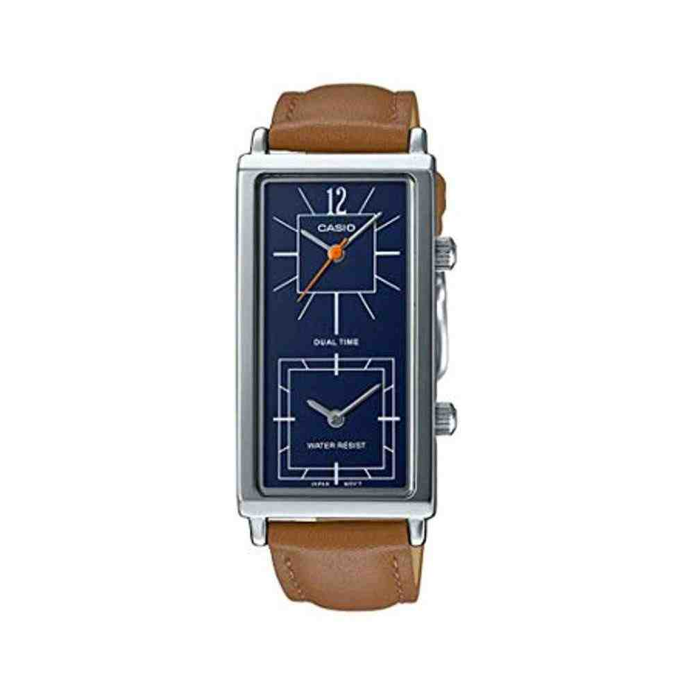 Relógio Casio Feminino Quadrado Dual Time LTP-E151L-2BDF
