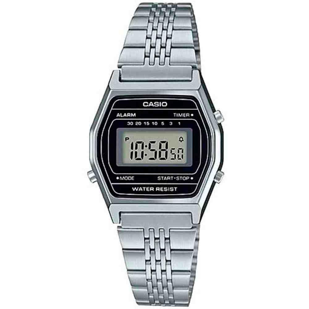 Relógio Casio Vintage Digital Feminino Prata La690wa-1df