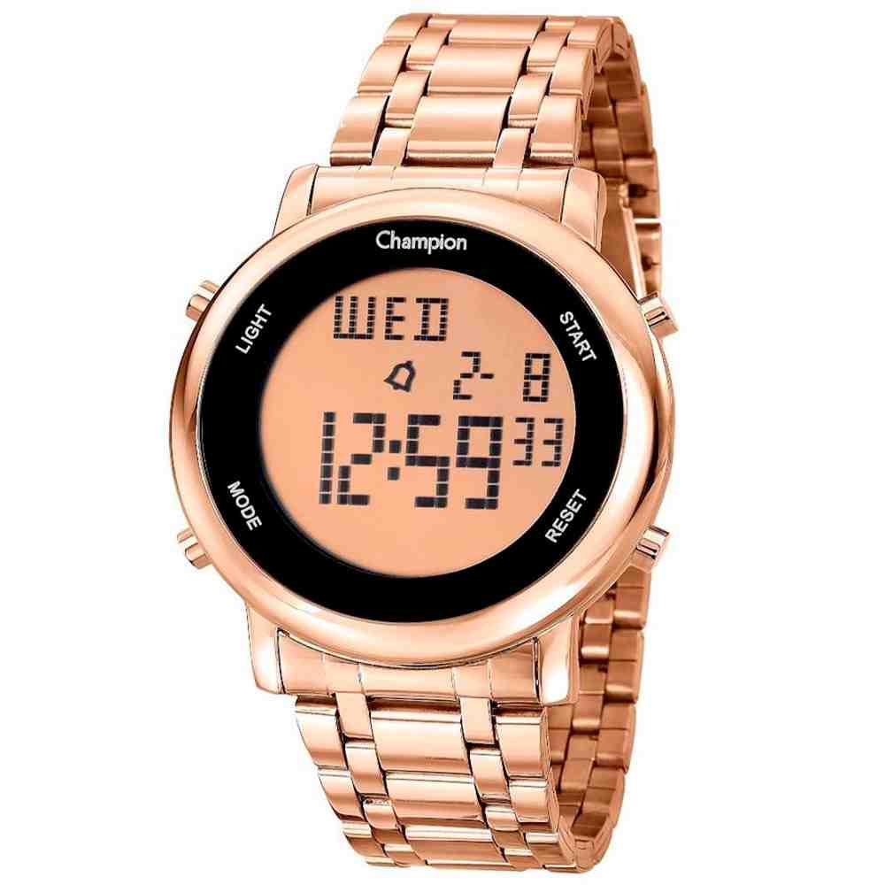 Relógio Champion Feminino Digital CH40213Z Rose