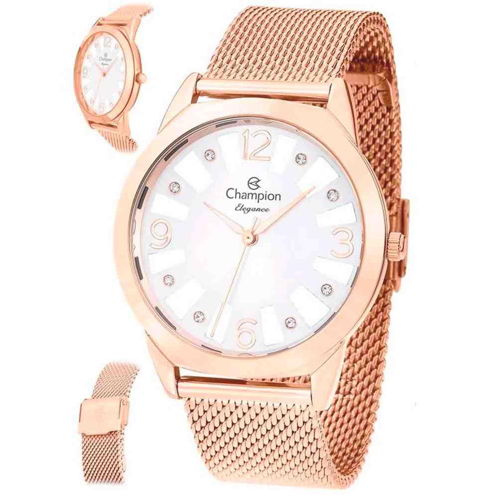 Relógio Champion Feminino Rosê CN20873Z