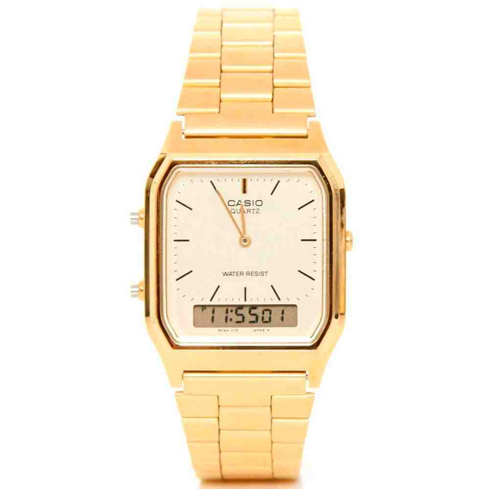Relógio Feminino Anadigi Casio Vintage AQ-230GA-9DMQ