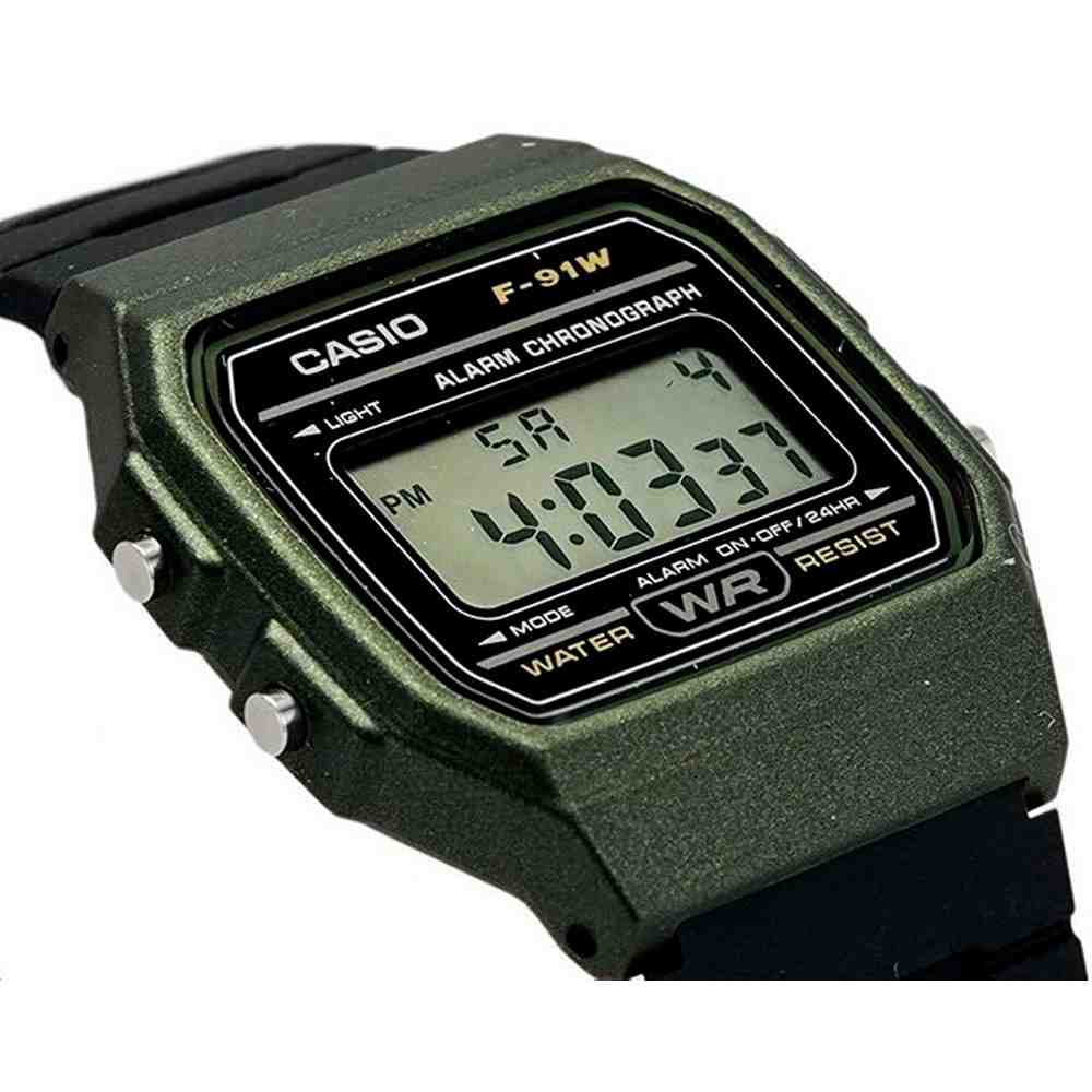 Relógio Feminino Casio Digital F-91WM-3ADF