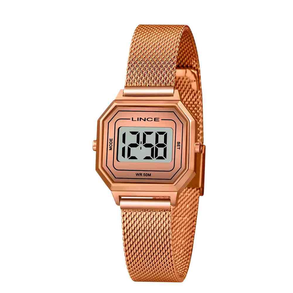 Relógio Feminino Digital Lince Rosé SDPH132L BXRX