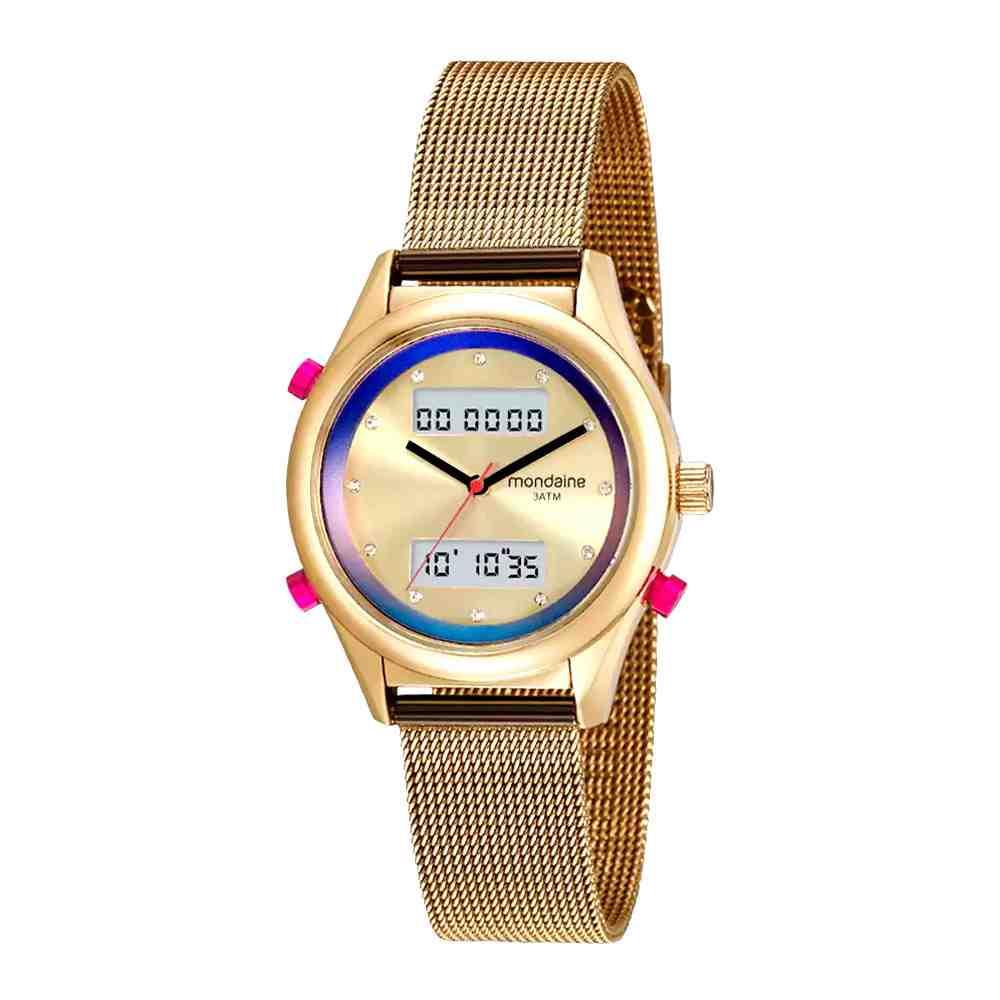 Relógio Feminino Digital Strass Mondaine 99120LPMVDE6