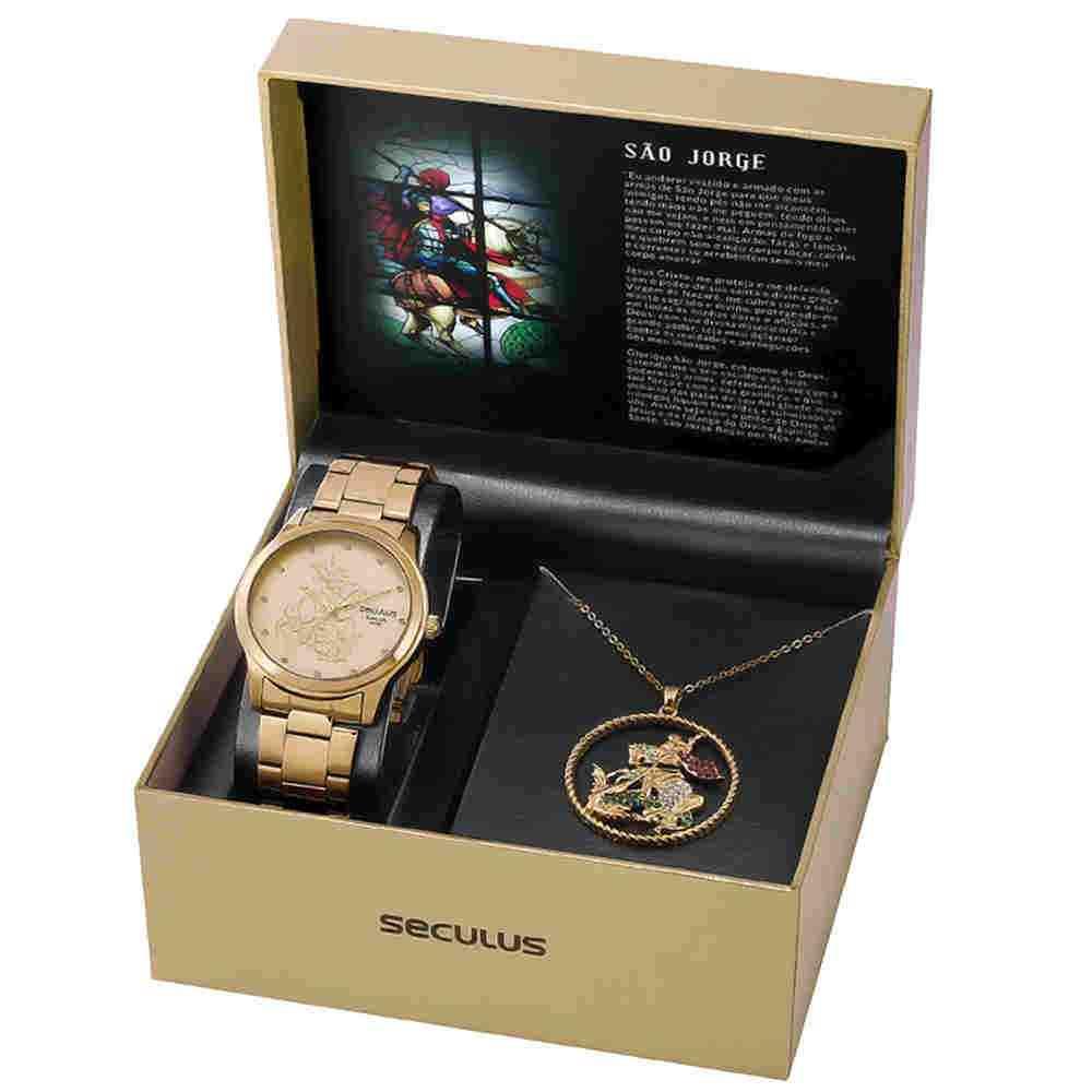 Relógio Feminino seculus são jorge 35019lpskda1k1