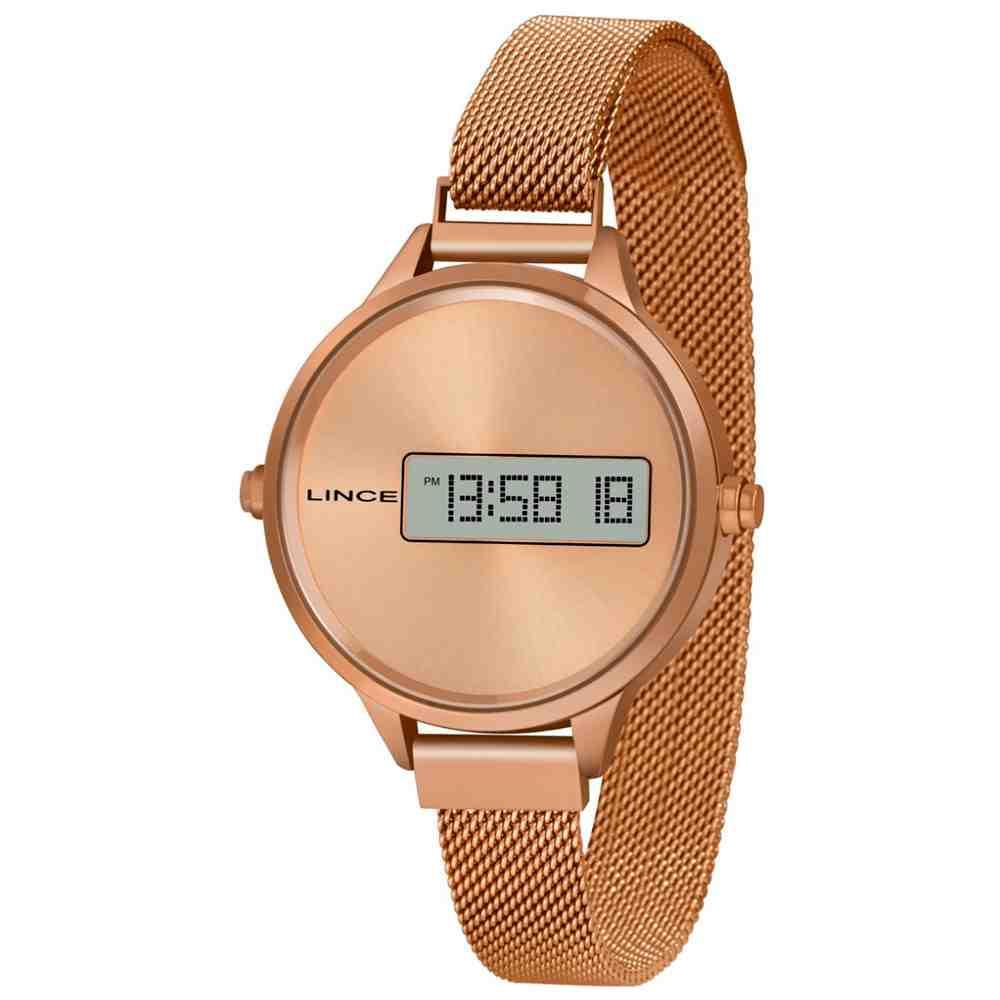 Relógio Lince Feminino Digital Rosé Sdr4635l Rxrx