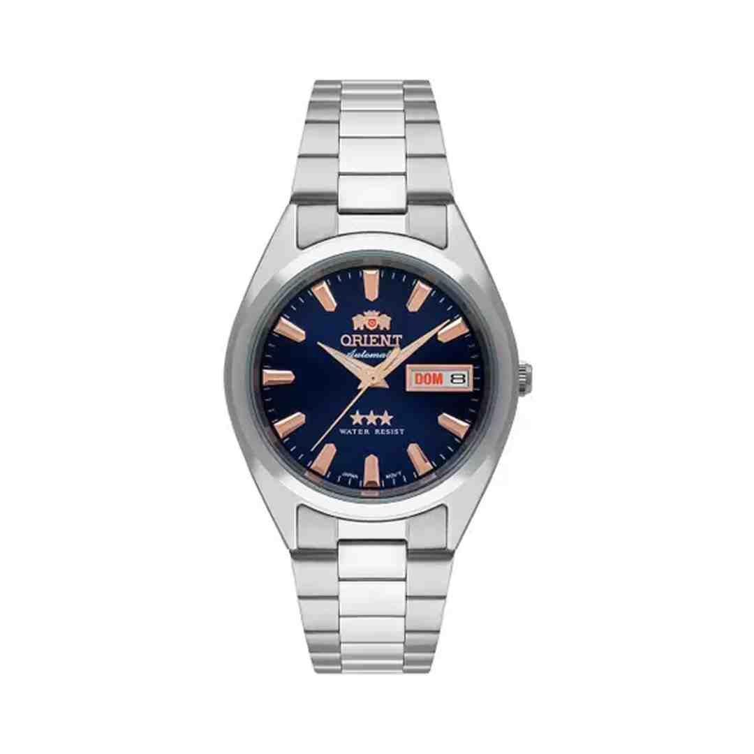 Relógio Masculino Automático Prata Orient 469SS084F D1SX