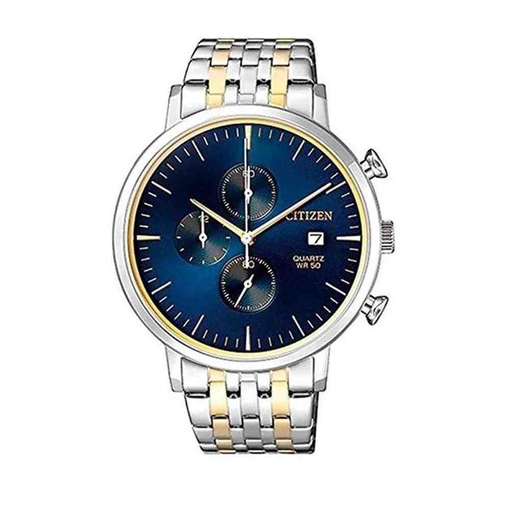 Relógio Masculino Citizen Prata Dourado - TZ20751A