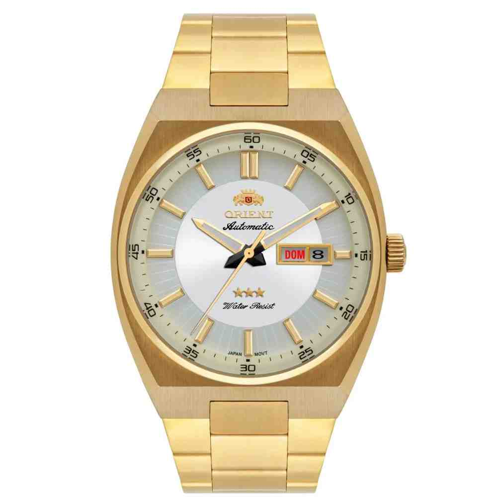 Relógio Masculino Orient Dourado Automático 469gp087f S1kx