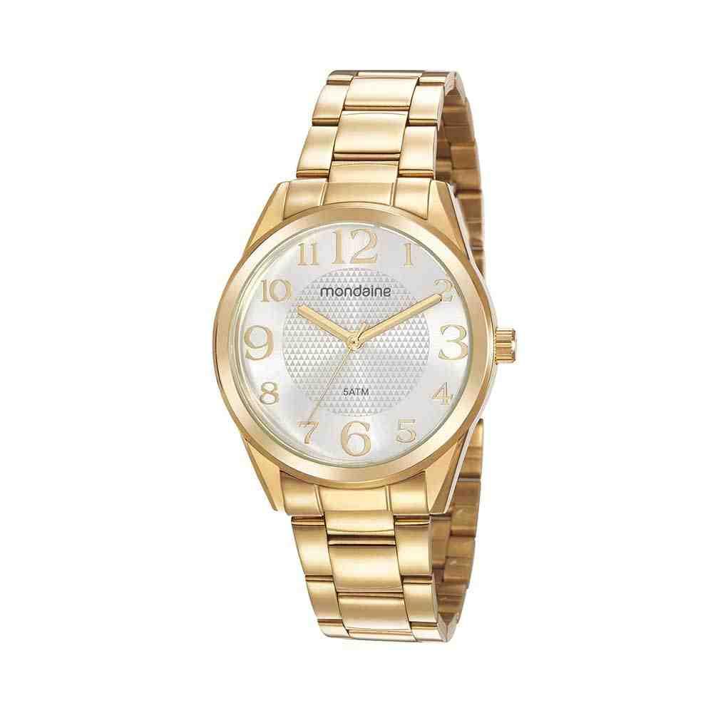 Relógio Mondaine Feminino Dourado 99577LPMVDE2