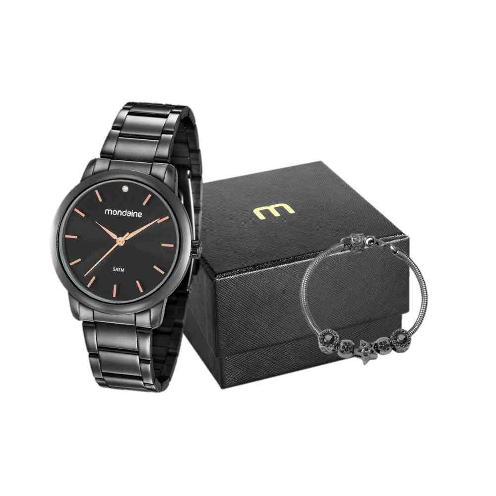 Relógio Mondaine Feminino Preto 53616LPMVPE3K2