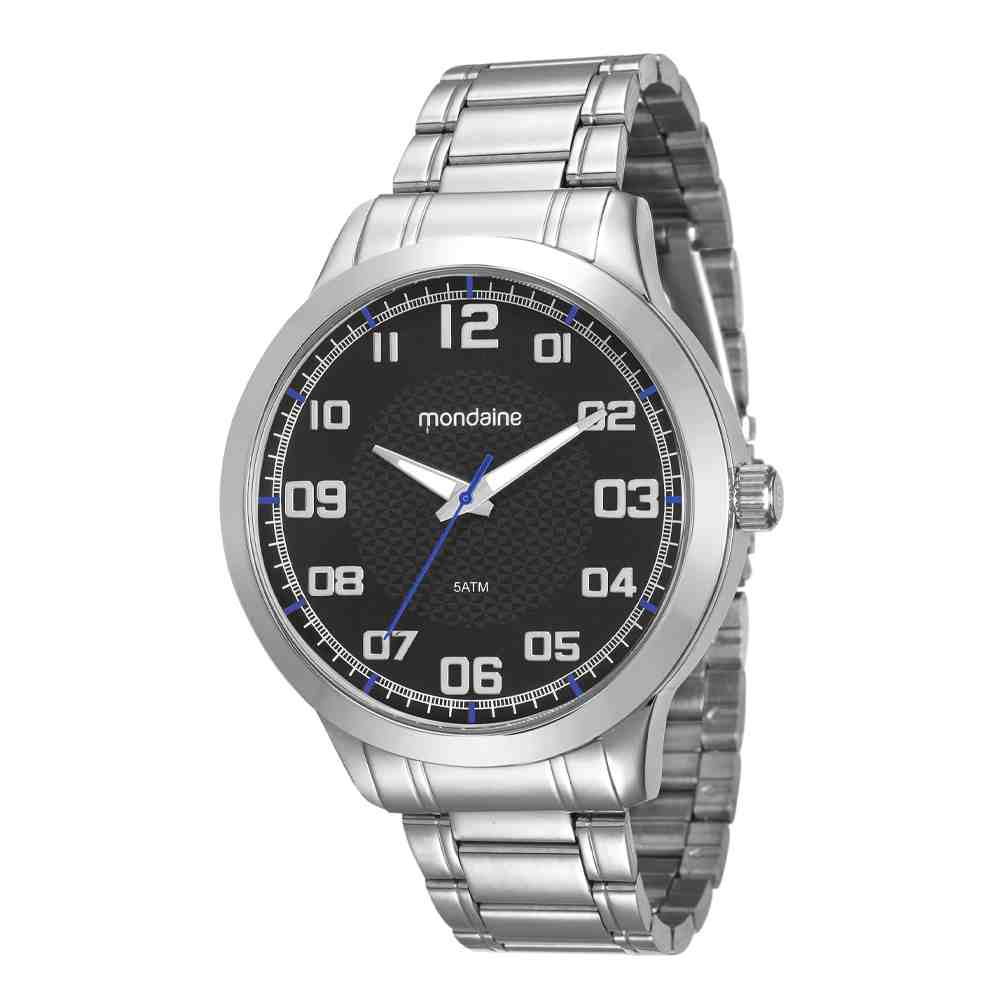 Relógio Mondaine Masculino Prata 99142G0MVNE4