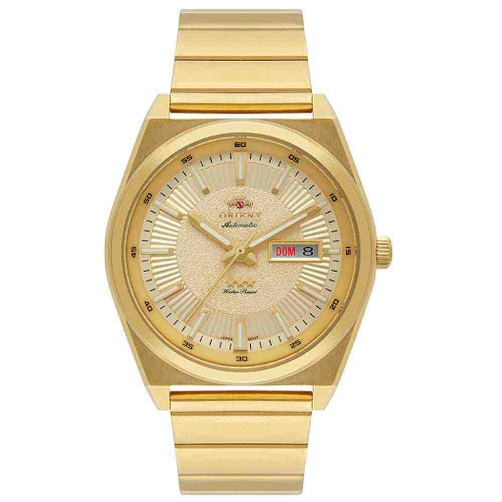 Relógio Orient Dourado Masculino F49GG005 C1KX