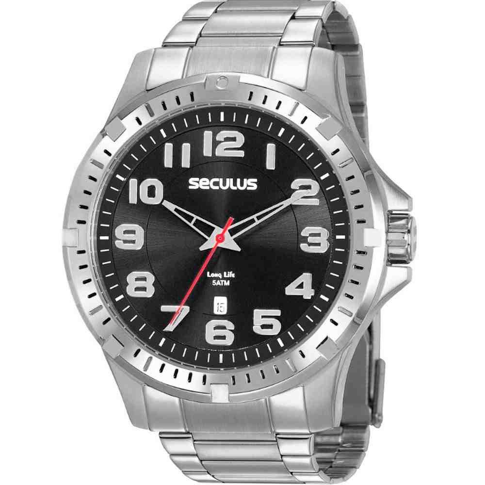 Relógio Seculus Masculino Analógico Prata 20787G0SVNA2