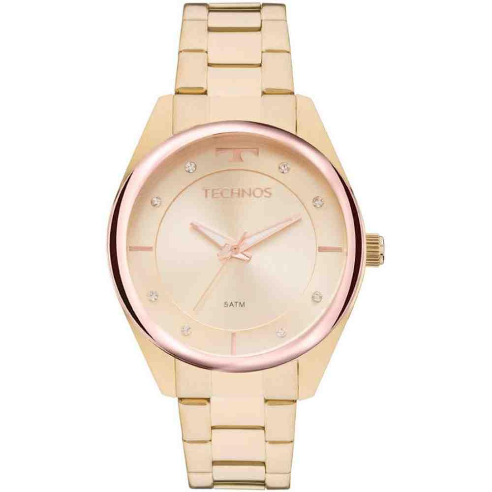 Relógio Technos Dourado Feminino Fashion Trend 2035MKW/4X