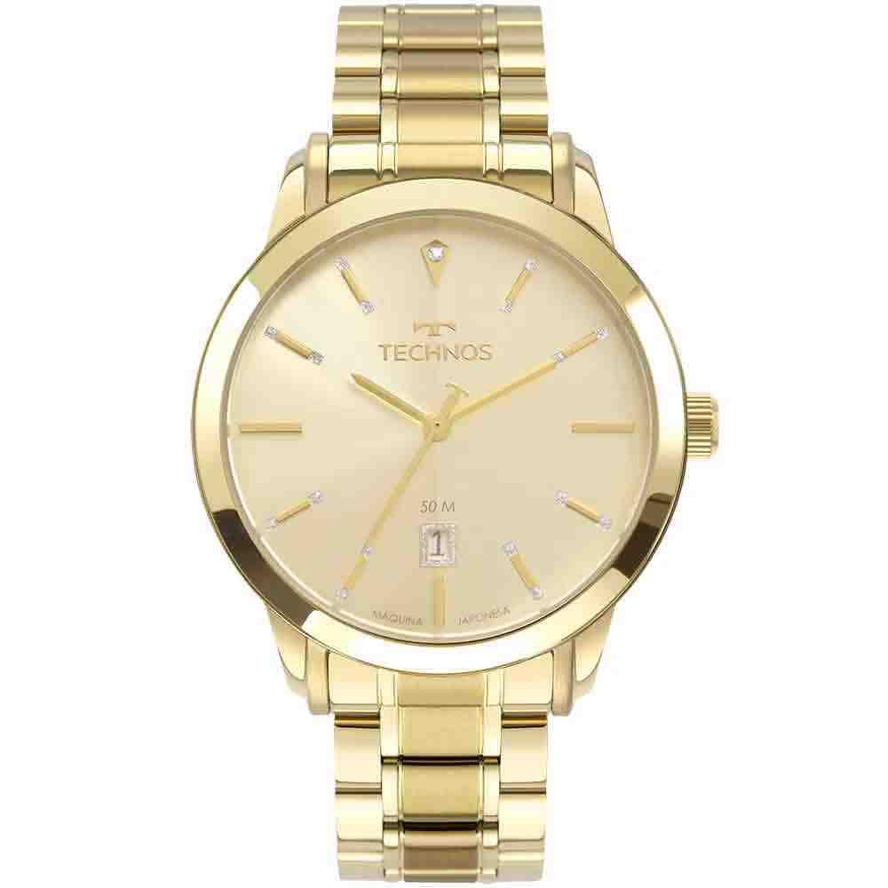 Relógio Technos Feminino Analógico Dourado 2115MUX/4X