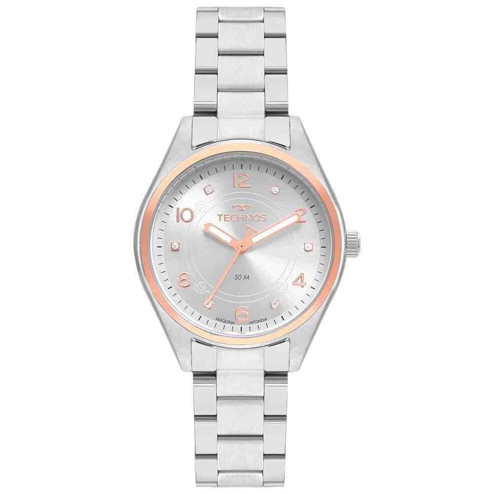 Relógio Technos Feminino Boutique Prata 2036MNQ/1K