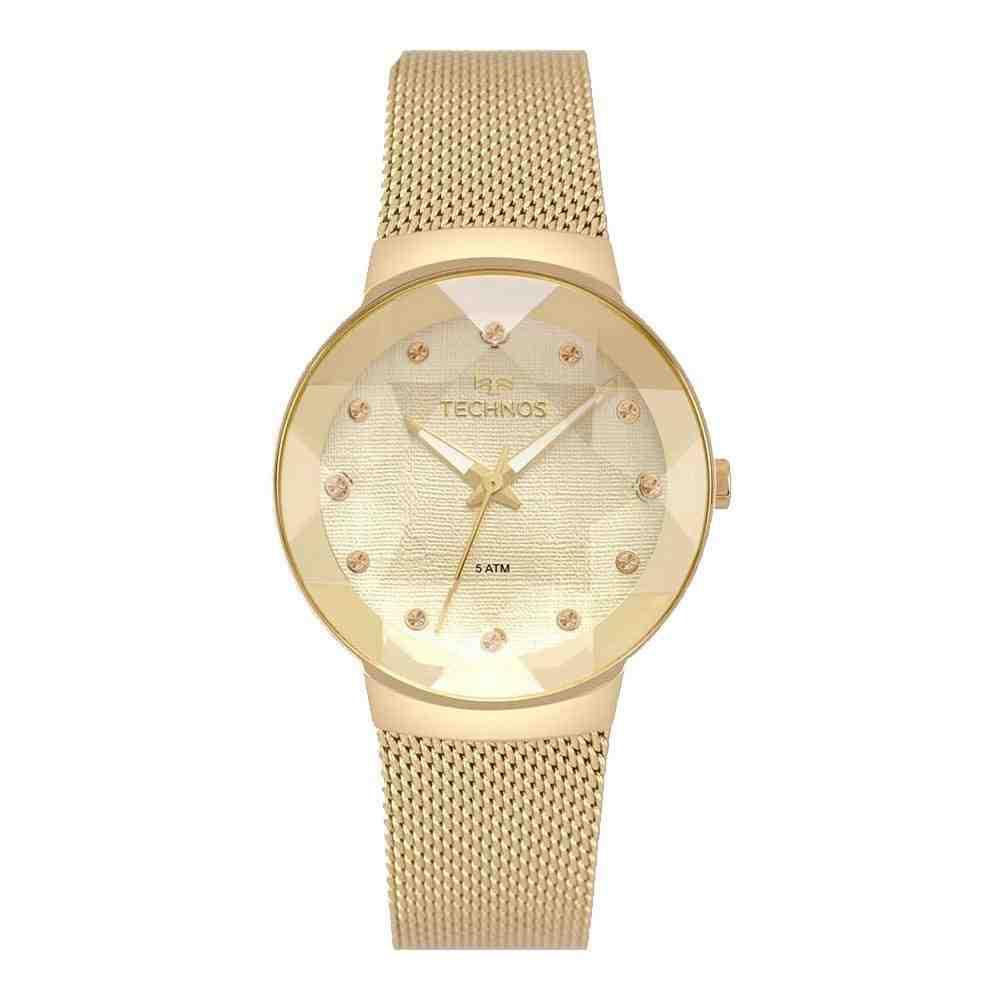 Relógio Technos Feminino Crystal Dourado 2035MPW/4K